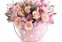 arranjos em rosa