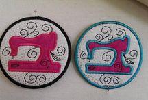 Hoop Hoop Hooray! / Items made almost completely in the embroidery hoop.