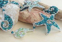 collane, orecchini, bracciali wire tema marino