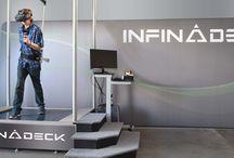 """A 360 degree interactive workout treadmill-""""New #Infinadeck """""""