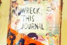 My wreck this journal :) / My finished wreck this journal