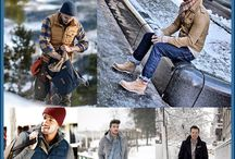Men's winter outfit / Men closed still