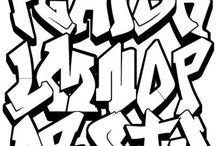 Graffitti alphabets