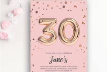Birthdays, Baby Showers & Birth Announcements / Modern Birthday and Baby Shower Invitations