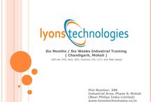 Six months industrial training in Chandigarh / Learn the latest emerging IT technologies in your six months industrial training in Chandigarh and Mohali. Check out: www.lyonstechnologies.co.in