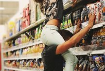 Couple supermarket