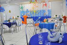 Minhas festas / Festas de aniversários para meu filho nos temas Fazendinha e Fundo do Mar
