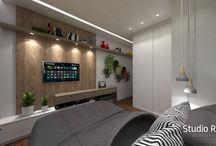 Projeto de Arquitetura e Interiores - Residência RS / Escritório: Studio Ruas   Projeto: Arq. Sati Brandão   Modelagem 3D: Arq. Sati Brandão