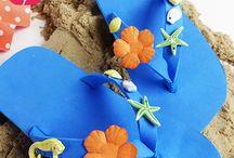 Flip-Flop-Party - Die sommerliche Kindergeburtstagsparty / Flip-Flops, Sommer, Sonne, Strand! Ein perfektes Motto für den Sommer-Kindergeburtstag! Da dürfen die sommerlichen Schuhe und Surfbretter nicht fehlen!  Wir haben hier ein paar schöne Ideen für eine sommerliche Kindergeburtstagsparty zusammen gestellt! #balloonas #kindergeburtstag #motto #party #sommer #sonne #flip flop #surfer