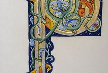 Illuminated letters / I love these old illuminated manuscripts, they are just so atmospheric and magical.