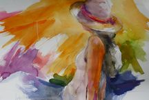 Angus Watson Art / Colorful, impressionistic, figurative paintings.  Watercolor and acrylic.