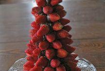 Новогодние десерты из фруктов