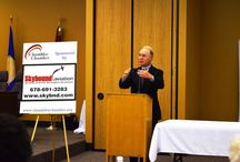 August 2014 Breakfast Meeting featuring Congressman Tom Price / Tom Price addressed government waste and his commitment to limited government and lower spending. Breakfast was provided by our **SPECTACULAR SPONSOR** Skybound Aviation. Thank you everyone for coming out.