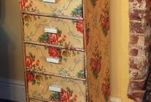 vintage wallpaper  cupboard