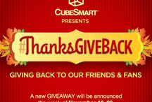 #ThanksGiveBack 2015 / It's time for our favorite giveaway! We're most thankful for YOU – our amazing fans and friends! With this in mind, we are giving back to our friends and fans with some of the best giveaways that we've ever offered. Our #ThanksGiveBack giveaway starts on Monday, November 16, 2015 and runs through Friday, November 20, 2015! Click on the daily prize announcement pins to sign up each day for your chance to win that day's awesome prize.