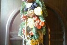 Dekorácie / Vo voľnom čase ručne vyrábané dekorácie s motívom Veľkej noci a Vianoc