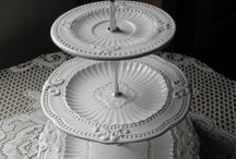 Beautiful Tableware, pedestal & servings