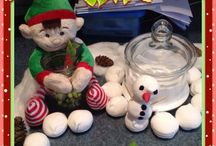 Alabaster Snowball - our elf on the shelf 2014