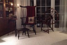 spinning wheels,winders, flax tools / by Julie Peterson