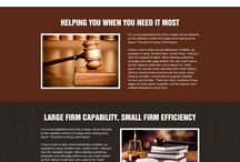 attorney and law landing page design
