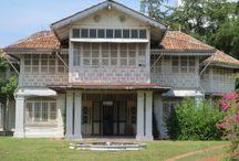 Siirtomaa-ajan rakennuksia, Klebang, Malacca Malaysia / Siirtomaa.ajan huvila Malesiassa