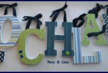 Nautical Nursery / Whales, waves, navy and lime green, and all things nautical.
