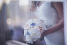beautiful sky blue bridal boquete