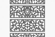 Architectural decorative 2D patterns / Collection of Architectural decorative 2D patterns. / by Craftsmanspace Jan