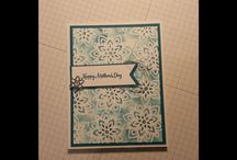 Stencil mothers day card