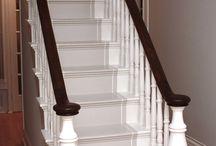 Escalier Bois Et Blanc