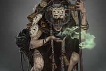 RPG - Shamans / RPG - Roleplaying Game Concepts of shamans, pajés and totem priests.