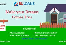 "Loan Against Property - Ruloans / ""At ruloans.com, you can compare & apply for loan against property online. We offer you the best LAP deals which suit your needs."