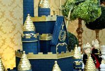rei dourado e azul