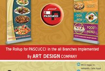 Samples for Works at CAFFE PASCUCCI Brand / This Works and Designs have been implemented by Art Design Company