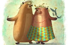 DRAWING : Woodland n animal illustration