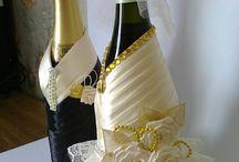 Butelki ślubna
