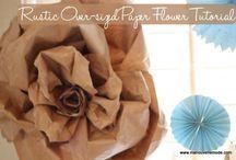 kwiaty z papieru pakowego