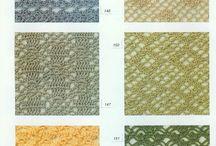 wzory szydełkiem i na drutach