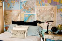 Interior / Decorating with maps and books