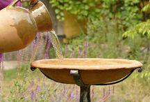 Bird Baths / Hand made from clay and cast iron garden bird baths by Glinka Design.