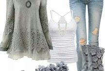 Romantic Outfits in grey