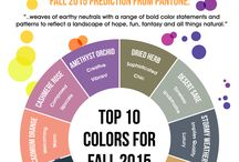 The new colors for interior decorating! / 2015 fall Pantone colors for decorating!!! Cool colors that are in now but also timeless. They will not be going away anytime soon!