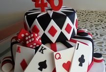 playing cards cake/ casino cake