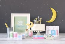 """Stars and Moon Baby Shower / The perfect """"Twinkle Twinkle Little Star"""" or """"Love you to the Moon and Back"""" baby shower"""
