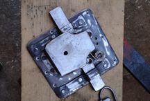 Black smith / Hand forged vintage key locker