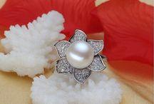 +Silberring aus 925er Sterling Silber+Süßwasser Perle Zirkonia Gr 54 (17,2 mm Ø) 24,90 Euro