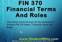 Superlative Guide For FIN 370 week 1 / The theme of FIN 370 financial terms and roles is to learn about various financial terms which are used in the day-to-day activities in the life of a person while investing funds. It is important to learn about finance for the career of a person. There is a need to learn about financial terms because one has to invest funds in the assets and securities
