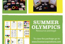Summer Olympics / Five star inspirations has created a summer Olympic's resource package to help inspire and learn about the Olympics in your child care service. To view our packages head to www.fivestarinspirations.com