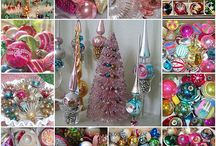 vintage christmas ornaments / by Madonna Marrin