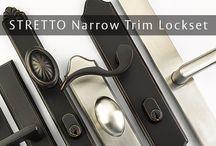 STRETTO / Narrow trim sideplate locksets / by Emtek
